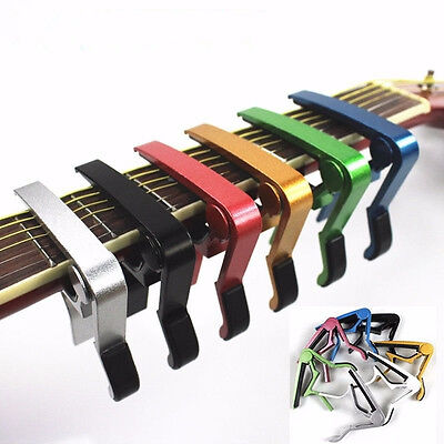 Premium Alloy Capo Trigger Clamp Quick Change for Guitar Banjo Ukulele Mandolin