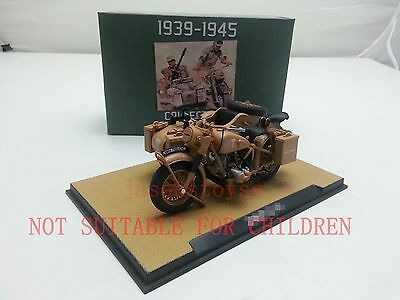 Atlas 1939-1945 BMW R75 Motorcycle with sidecar combination Yellow 1/24 New