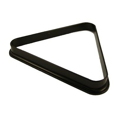 """Pool Table Black Plastic Triangle For 2"""" Balls Standard Pub Size Reds Snooker"""