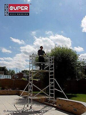 SUPER DIY 4.5M (Height Adjustable Wheels) - Aluminium Scaffold Tower / Towers