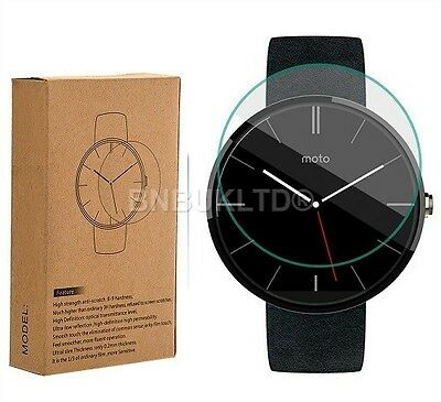 2 X 100% genuine Tempered Glass Screen Protector for MOTO 360 watch