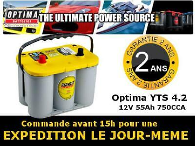 Optima YTS 4.2 Batterie Yellow Top - Service d'expédition au lendemain