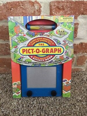 The Pict-o-graph Etch Sketch Game Magic Sketch Toy And Activity Book