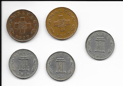 5x Coins from Malta.