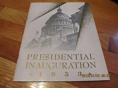 JANUARY 23,1953 PRESIDENTIAL INAUGURATION PROGRAM Dwight Eisenhower & Nixon