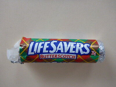 """Vintage Life Savers """"butterscotch"""" Candy Roll Opened"""