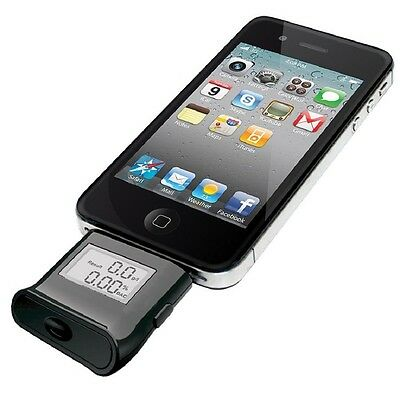 Alcohol Tester For iPhone Breathalyzer 6/ iPhone 6 Plus/ iPhone 5S/5/5C Black