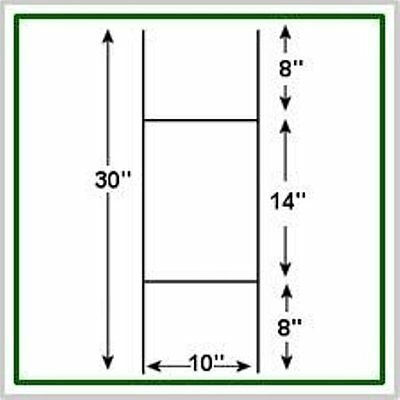 100 Pack Corrugated H-Frame Wire Stakes - Signs Not Included