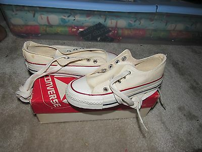 Nib Vintage Converse All Star Chuck Taylor Kids White Size 12.5 Made In Usa