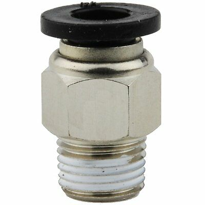"""Push to Connect Fittings for Pneumatic Tubing OD ¼"""" and Male NPT (1/8"""" Male NPT)"""