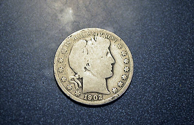 1902 O Better Date  90 % Silver BARBER Half Dollar  FREE SHIP