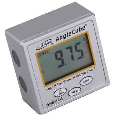 iGaging AngleCube Digital Level +  Bevel Gauge 2 in 1 With Large LED Screen New