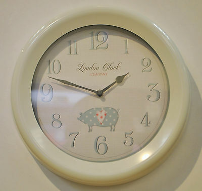 London Clock Company Cream Round  Wall Clock 24301