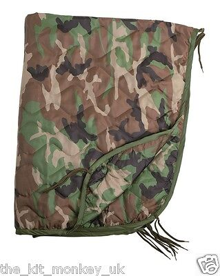US Army GI Style Ripstop Woobie Poncho Liner / Camping blanket Camouflage - New