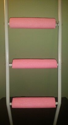 BABY PINK Padded Bunk Bed Ladder Rung Covers *No-Tool Install*(Safe, Non Slip)