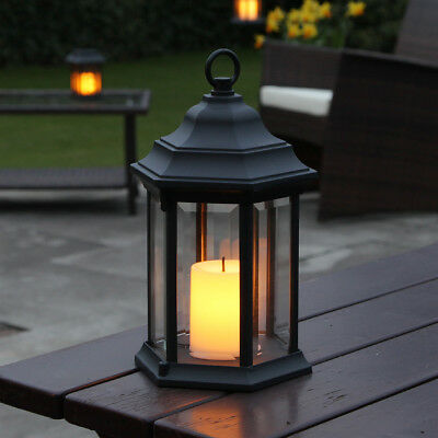 28Cm Outdoor Garden Battery Patio Table Candle Holder Led Lantern Lamp Light