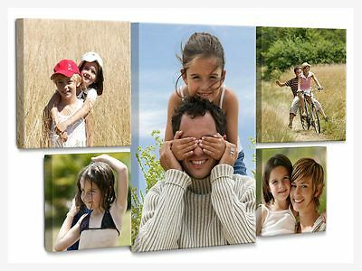 """Your Personalised Photo on Canvas Print Framed Ready to Hang 8""""x12"""" 16""""x20"""""""