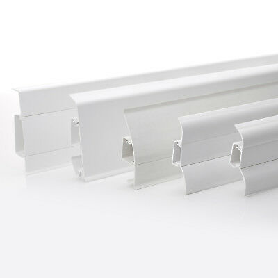 2.5m WHITE SKIRTING BOARD (FREE screws) 52mm/62mm/70mm/75mm PVC floor-wall joint