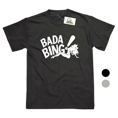 Bada Bing Strip Club Inspired By The Sopranos Printed T-Shirt - 2 Colours