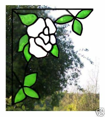 Single Corner Rose Stained Glass Effect Window Cling
