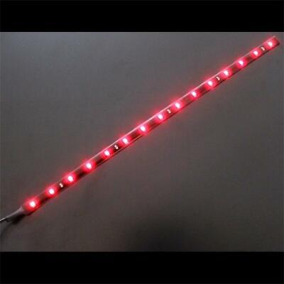 LED Streifen Strip Band Leiste 30cm Rot ; IP65 ; 15LEDs - 12V