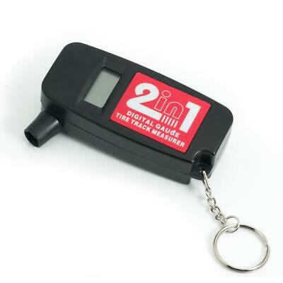 2-in-1 LCD Digital Tire Pressure & Tread Depth Gauge with Key Chain for Car