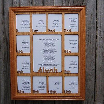 11x14 Personalized School Years K 12 Picture Frame 5100 Picclick