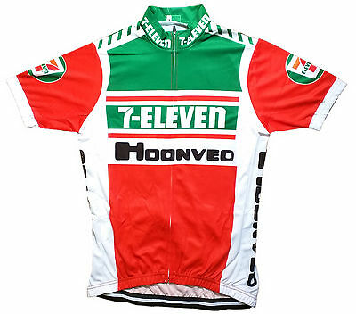 7 Eleven Retro Vintage Cycling Team Bike Cycle Short Sleeve Summer Jersey