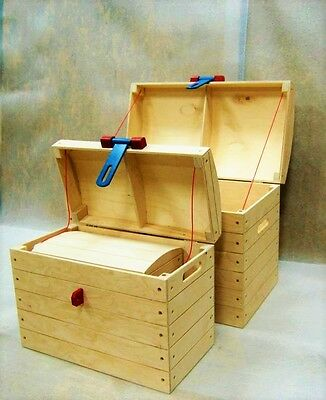 NEW Wooden pirate chest for toys Kids Bedroom