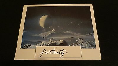 James Christy astronomer signed autographed  card discovered Pluto moon Charon