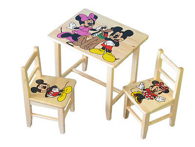 NEW Wooden Table with two chairs for children Themes 29 motives +GRATIS!!!