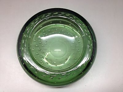 Green Controlled Bubble Bowl / Ashtray (Whitefriars?)