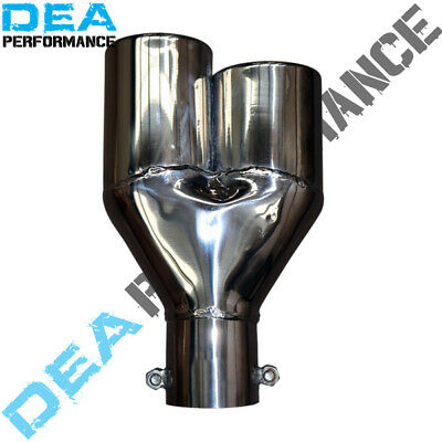 Dea Stainless Steel- Twin Rolled In Exhaust Tip Lhs 2.5'' Inlet