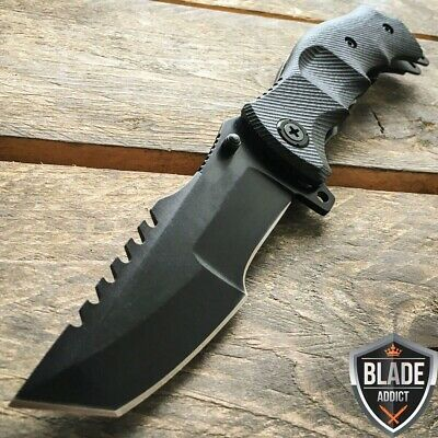 "9"" M-Tech G10 Tracker Spring Assisted Open Folding Pocket Knife Tactical Combat"