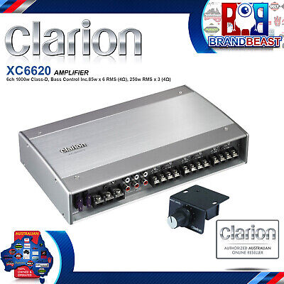 New Clarion Xc-6620 600rms 6 Channel Boat Audio Amplifier Marine Grade Amp Sub