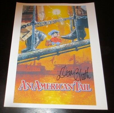 Don Bluth animator writer producer American Tale / Nimh signed autographed photo