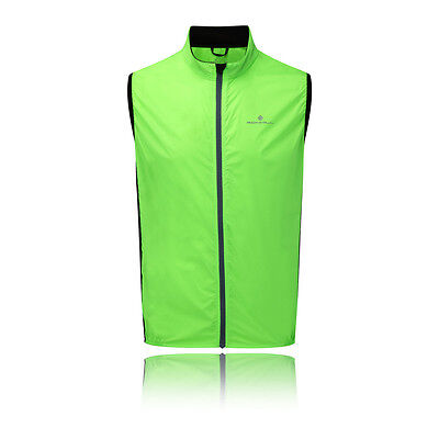 Ronhill Quantum Mens Green Water Resistant Windproof Running Trail Gilet Top