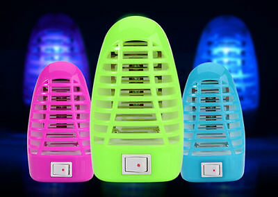 1Plug US LED Electric Mosquito Fly Bug Insect Trap Night Lamp Killer Zapper