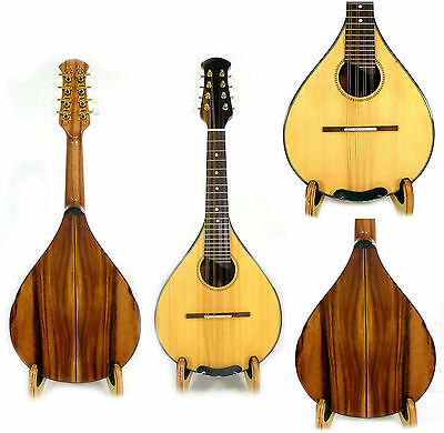 Flat back Mandolin Solid Spruce Top Acacia Koa Shiny Polish CMI series