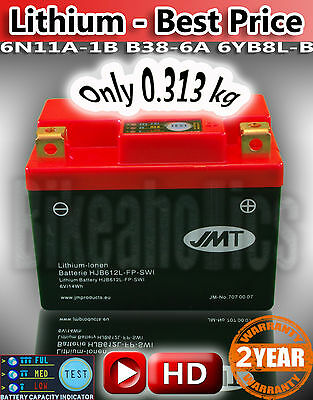 6V Lithium ION motorcycle battery No acid leak 90% less self discharge long life