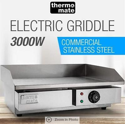 3000W Thermomate Electric Griddle Grill Cooktop 8mm thickness Stainless Steel