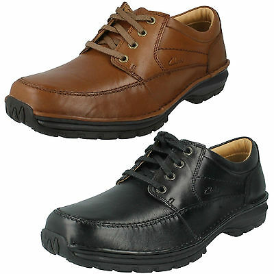 SALE MENS CLARKS Lace Up Leather Active Air Wide Fit Work