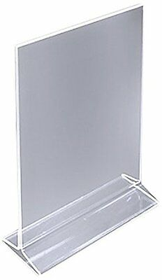 "ChefLand 5"" X 7"" Acrylic Sign Holder / Clear Table Card Display / Plastic Uprigh"