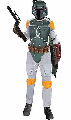Halloween LifeSize Star Wars BOBA FETT ADULT DELUXE MUSCLE Standard Men Costume