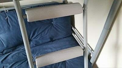 LIGHT GREY Padded BunkBed Ladder Rung Covers*No-Tool Install*(Safe, Non Slip)
