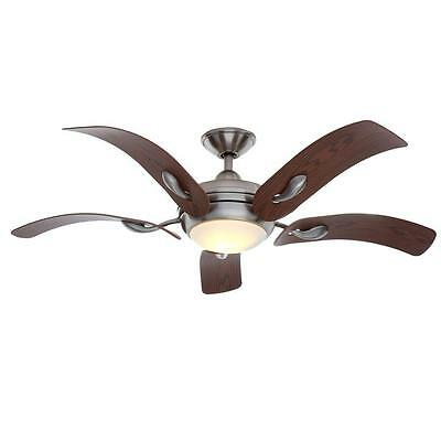 """Cassaro II 52"""" Brushed Nickel Ceiling Fan with Light & Remote Control Modern NEW"""