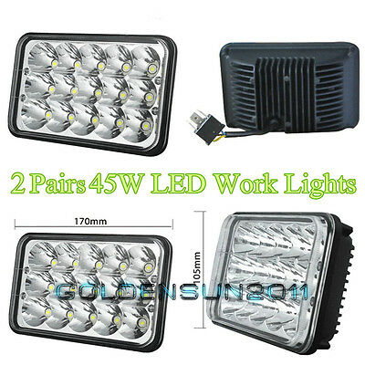 LED Headlights For Kenworth T800 T400 T600 W900B W900L Classic 120/132 2 Pairs