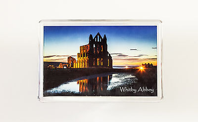Fridge Magnet, Whitby Abby at Night, Yorkshire Coast, WH09