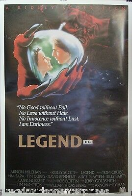 Legend 27x40 Movie Poster 1985 Tom Cruise