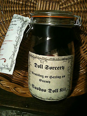 Hex Spell Kit Spell supplies poppet charm magic Witchcraft voodoo poppet doll